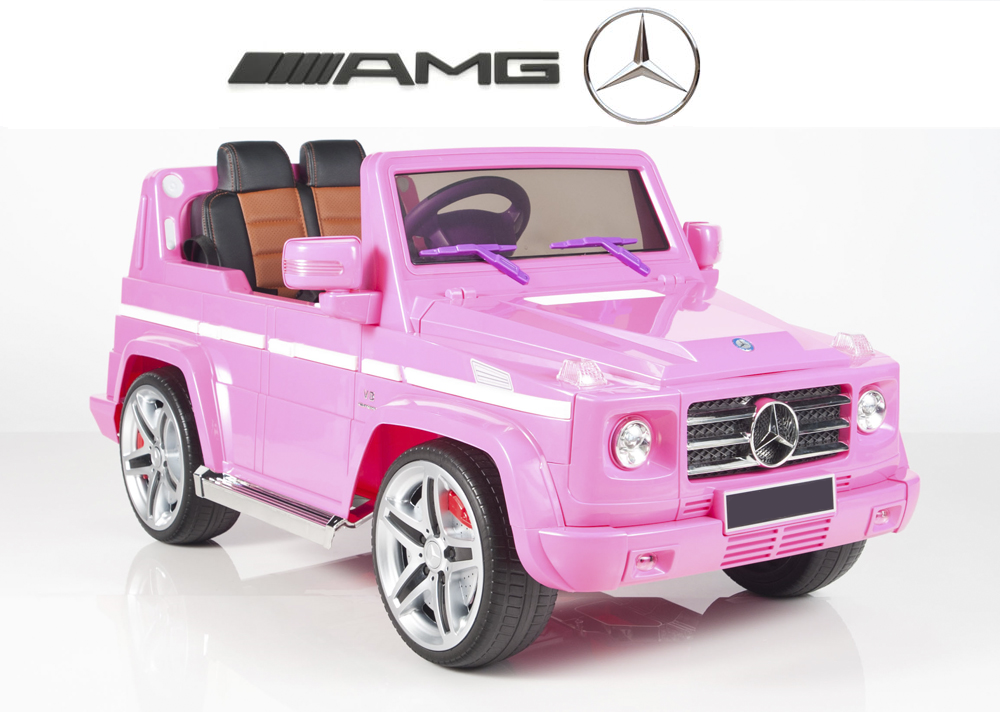 magic cars my first pink electric mercedes g55 rc ride on car for children