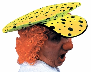 Neon Clown Hat Lime Green Costume