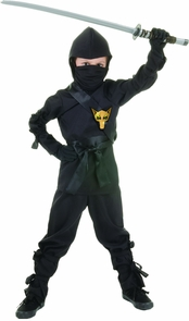 Ninja - Child Black Medium Costume