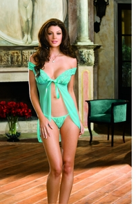 Open Front Babydoll W/thong Lg Costume
