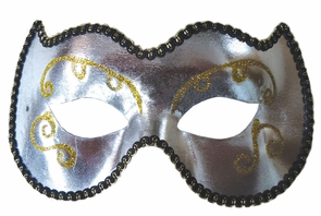 Opera Eye Mask Silver/gold Costume