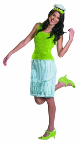 Oscar Sesame Strt Ladies 8-10 Costume