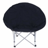 Oversize Folding Padded Moon Chair Black