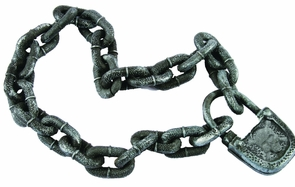 Padlock And Chain Accessory Costume