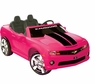 2 Seater 12 Volt Pink Camaro Electric Ride On Car For Children