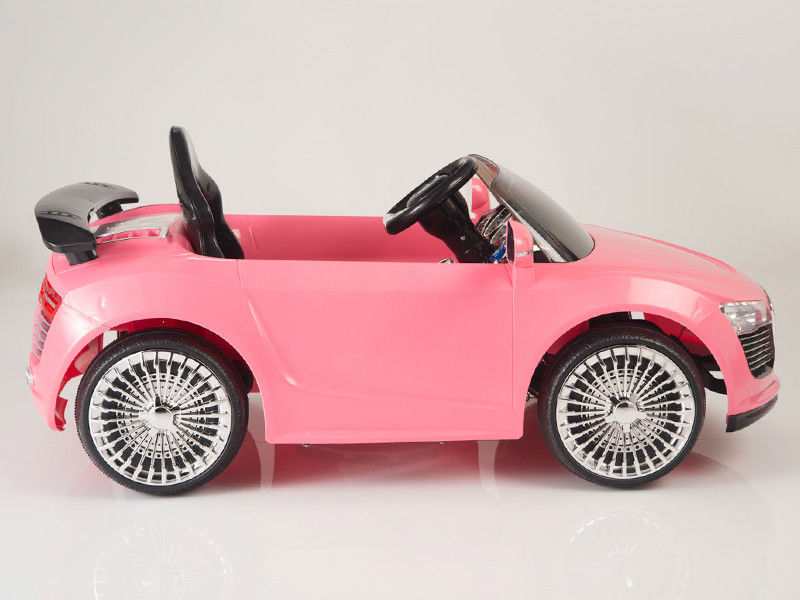 Merveilleux Magic Cars® Pink Audi Turbo Roadster Style RC Ride On Car W/Twin 12 Volt  Motors