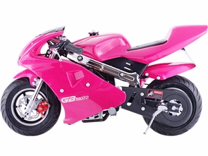 Pink Power 4 Stroke 40CC Gas Pocket Bike Scooter