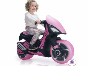 Pink Ride On Electric Motorized Scooter For Girls
