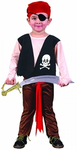 Pirate Toddler Large Costume