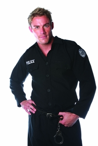 Police Shirt Mens One Size Costume