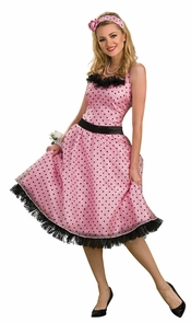 Polka Dot Prom Adult Small Costume