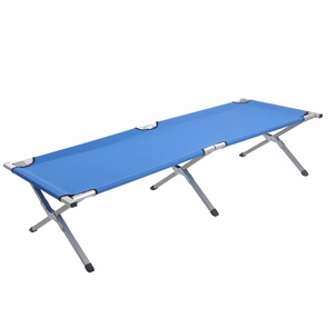Portable Folding Cot Camp Military Hiking Medical Bed Blue
