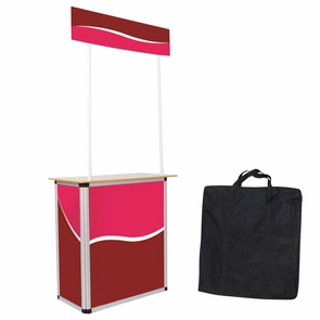Portable Promotional Demo Counter Trade Show Display