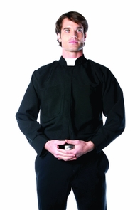 Priest Shirt Mens One Size Costume