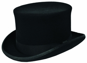 Prince Charles Top Hat Blk Costume