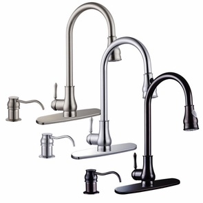 Pull Down 1 Handle Kitchen Faucet Finish Optional