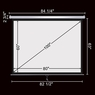 """Pull Down Projector Screen Wall Celling Mounted 100"""" 4:3"""