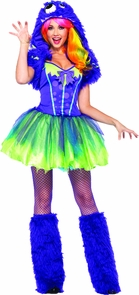 Purple Posh Monster Adult Sm-m Costume