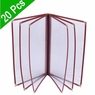 "PVC Vinyl Cafe Menu Cover Folder 12 View 8-1/2""x11"" 20pcs"