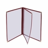 "PVC Vinyl Cafe Menu Cover Folder 6 View 8-1/2""x14"" 30pcs"