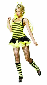 Queen Bumble Bee Sexy 4 Pc Xsm Costume