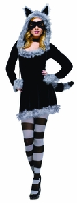 Women's Racy Raccoon Costume