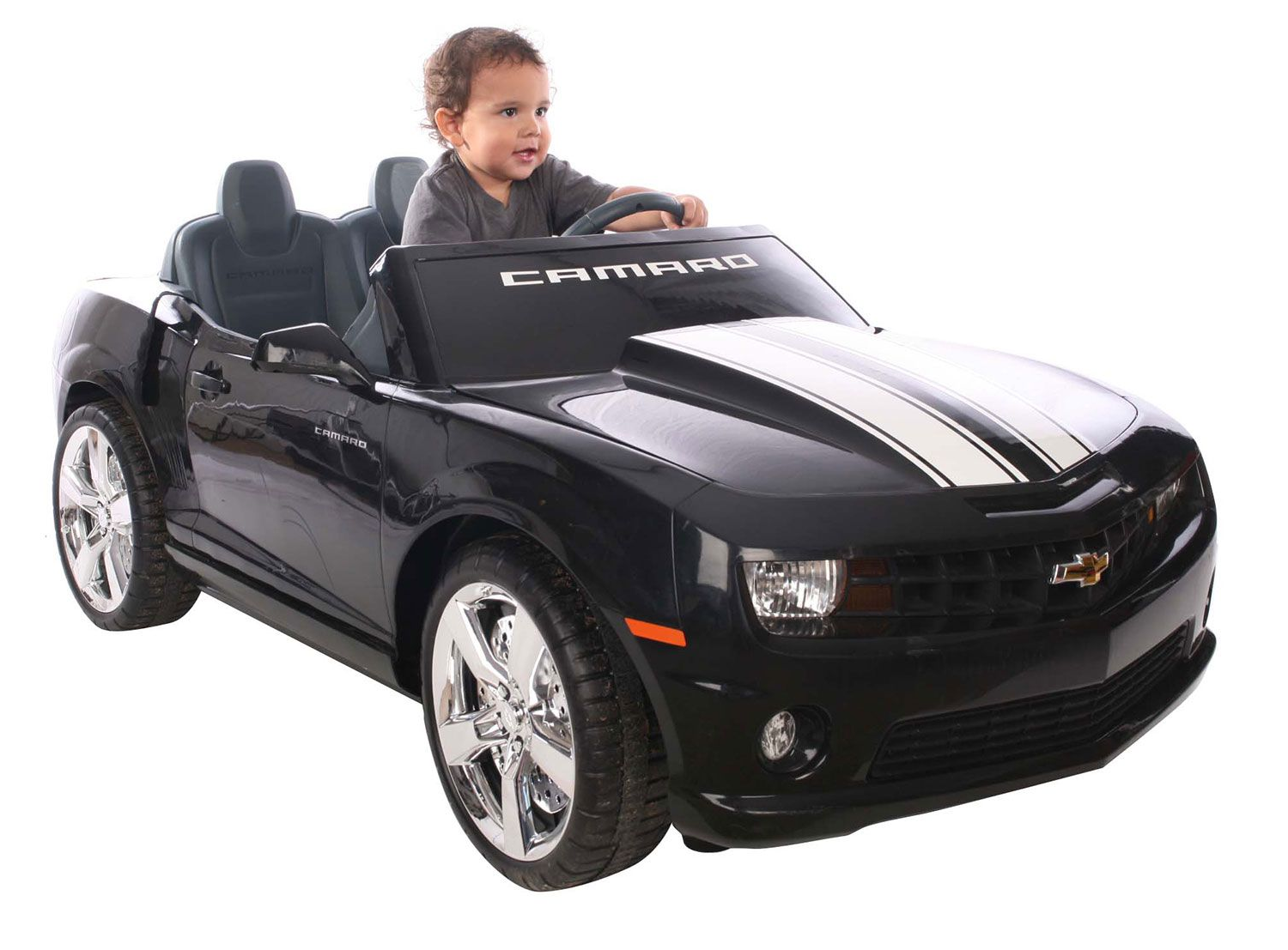 f811f19009c Black Camaro Ride On Car Power Wheels Style For Two Children