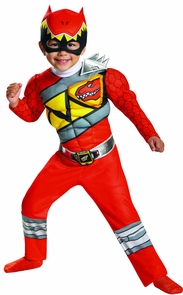 Red Ranger Dino Muscle 3t-4t Costume