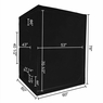 Reflective Interior 59x59x78 inch Hydroponic Grow Tent Box