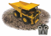 Big Boy Big YELLOW Remote Control (RC) Dump Truck W/Working Mining Dump Bed