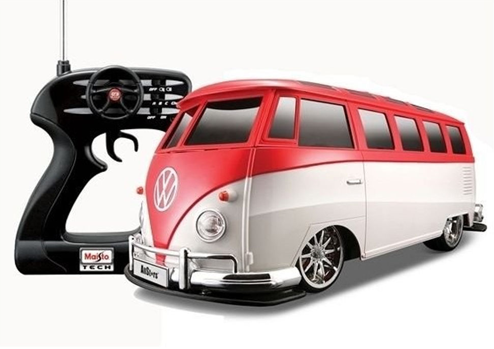 Remote Control Vw Beetle Van Bus Rc Car W Battery Charger Color May Vary