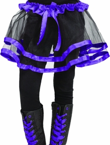 Ribbon Tutu Child Purple Costume