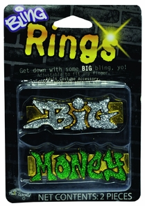 Rings Big Money Bling Costume