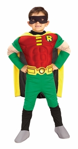 Deluxe Muscle Robin Costume - Teen Titans Costume