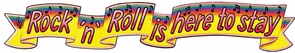 Rock And Roll Banner 6 Foot Costume
