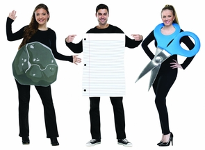 Rock Paper Scissors Adult Coup Costume