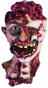 Rotted Zombie Head Prop Costume