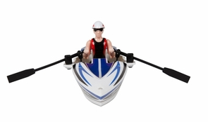 Rowboat Remote Control Boat RC Toy W/Paddles