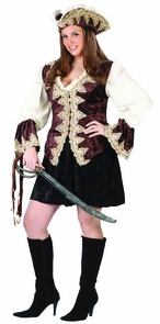 Royal Lady Pirate Plus Size Costume
