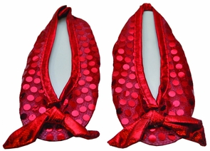 Girl's Ruby Slippers Shoe Covers - Wizard Of Oz Costume