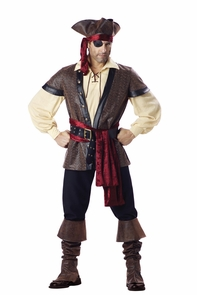 Rustic Pirate Adult Xlge Costume