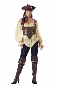 Rustic Pirate Lady Adult Lg Costume