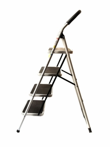 Safety Aluminum 4-Step Folding Ladder 330 lbs