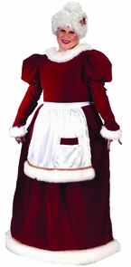 Santa Ms Velvet Plus Size Costume