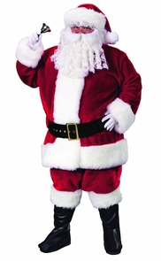 Santa Plush Crimson Plus Sz Costume
