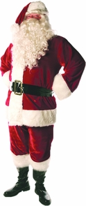 Santa Suit Lined Adult Std Costume