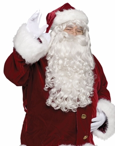 Santa Wig And Beard Super Dlx Costume