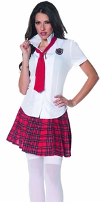 School Girl Fitted Shirt Small Costume