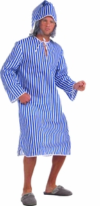 Scrooge Shirt And Hat Xl Adult Costume