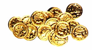 Sew On Coins Bag Of 20 Costume